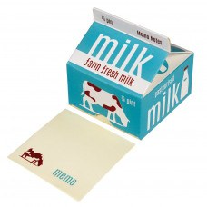 Memo Note Pads in a Blue Vintage Style Milk Carton