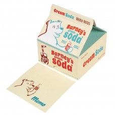 Kids Memo Note Pads in a Retro Style Cream Soda Carton