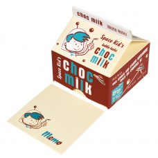 Kids Memo Note Pads in a Vinatge Style Space Chocolate Milk Carton