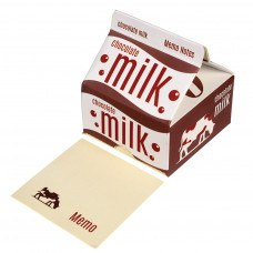 Memo Note Pads in a Retro Style Chocolate Milk Carton