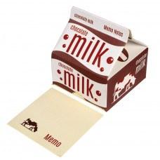 Memo Note Pads in a Retro Style Chocolate Milk Carton