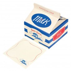 Memo Note Pads in a Vintage Style Milk Drink Carton