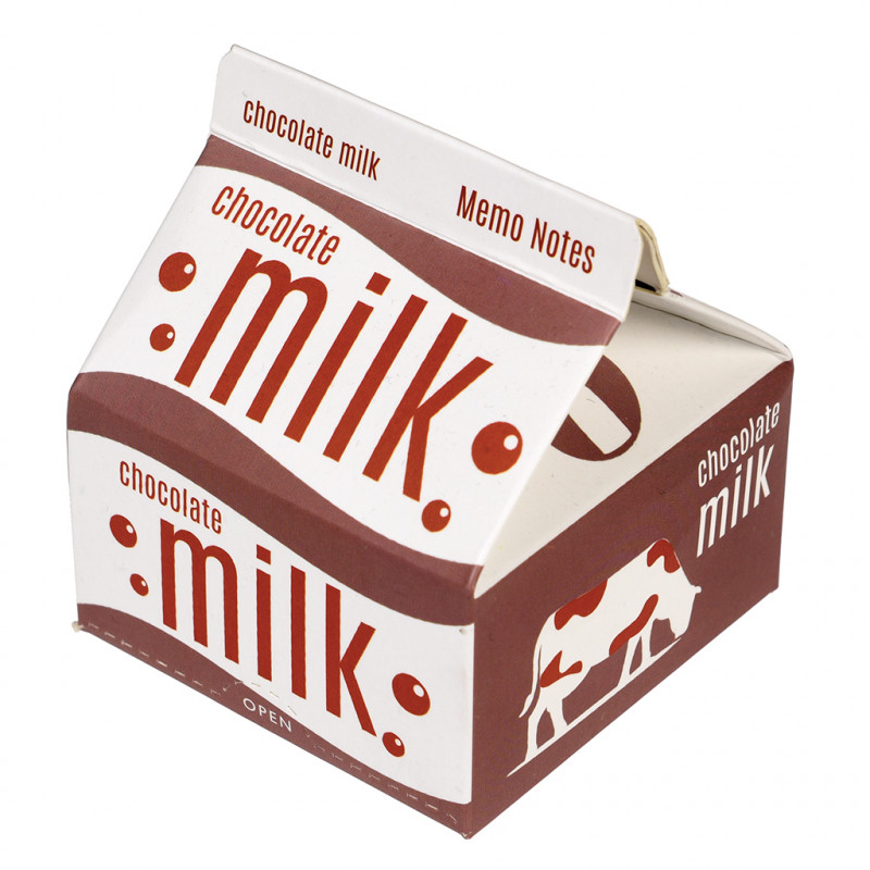 Memo Pads In Quot Chocolate Milk Quot Carton Rex London At