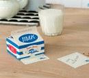 Memo Pads In A Striped 'milk' Carton
